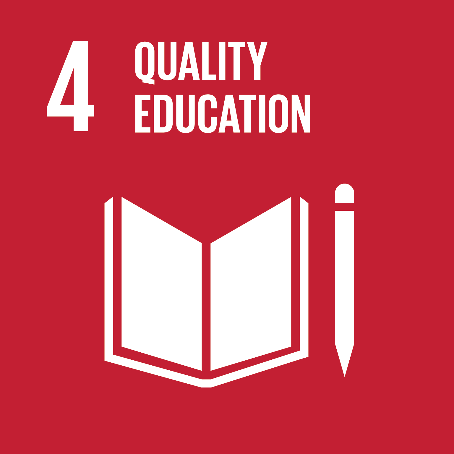 An image of UN Sustainable Development Goal 4